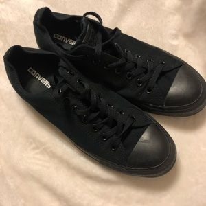 Converse all star black low top